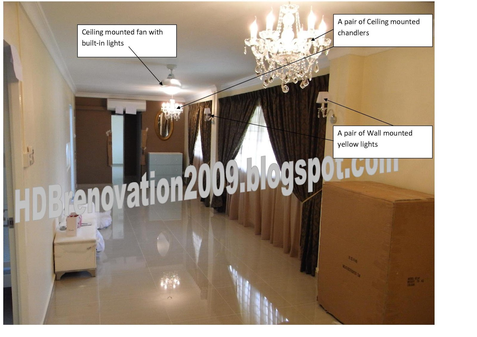 our hdb flat renovation in 2009 lighting concept living room