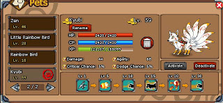 Sell Char Ninja Saga+Pet Kyubi+Carnival Jiegu Back Item