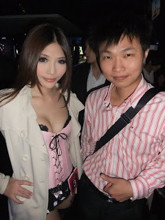 Li Xiao Xing Taiwan Sexy Model Sexy Pink Dress In Night Club 8
