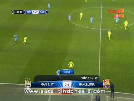 siaran liga champion barcelona vs manchester city