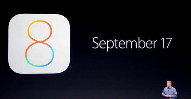 Apple phát hành chính thức iOS 8 vào ngày 17/9