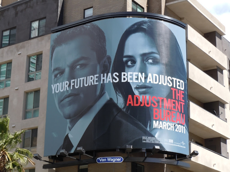 The Adjustment Bureau Future billboard