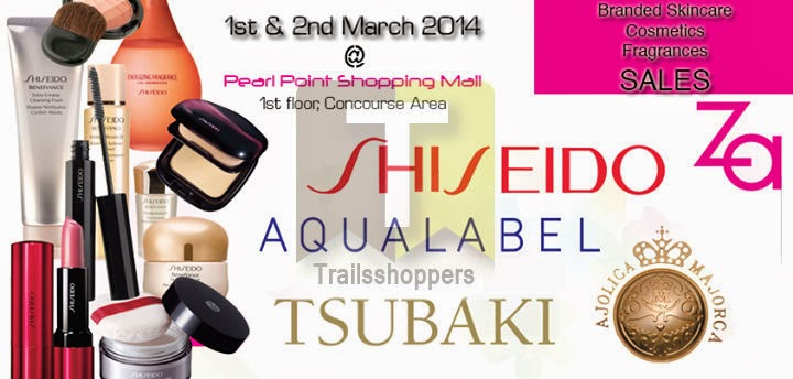 Branded Skincare Cosmetics Fragrances Sales Pearl Point Shopping Mall