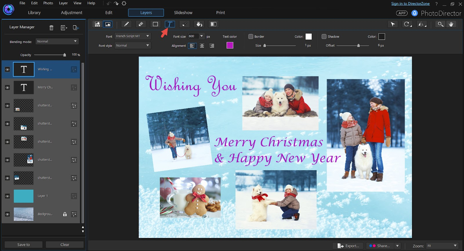 how to create a greeting card using html