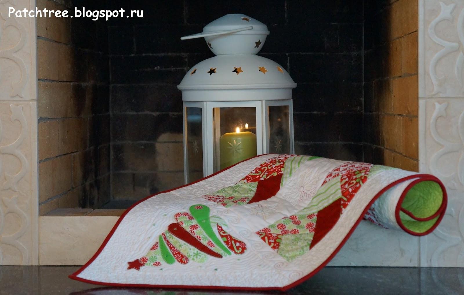 Рождественская столовая дорожка