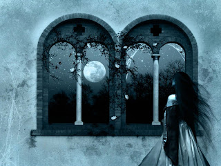 Awaiting In The Moonlight Dark Gothic Wallpaper