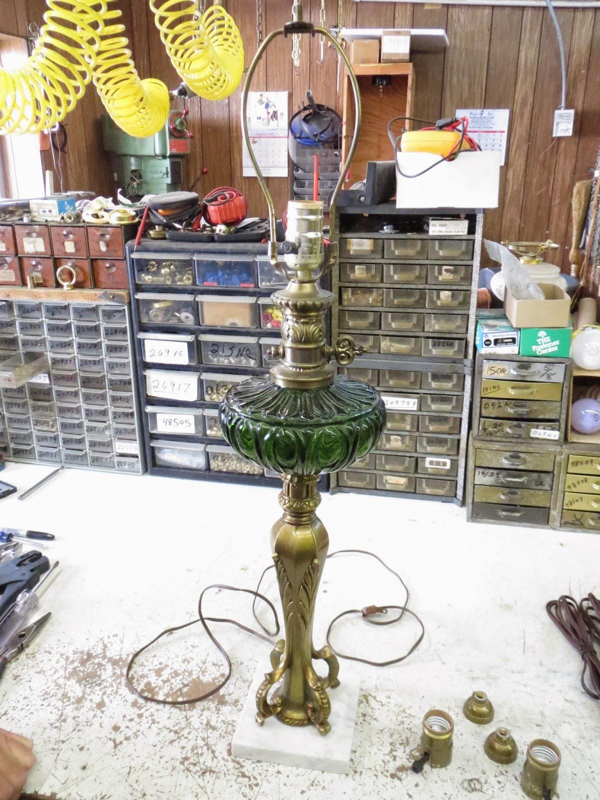 Lamp parts and repair lamp doctor green font tall table lamp greentooth Choice Image