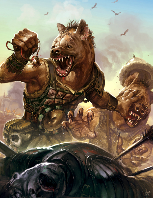 Guido Kuip: Advanced Races: Gnoll  Kobold Press Pathfinder RPG