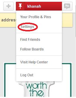 how to deactivate pinterest profile