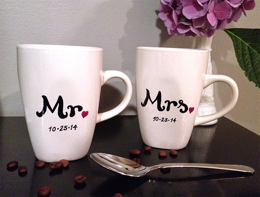Wedding Gift Mugs Suggestions : Sohl Design: Sharpie Mug Wedding Gift