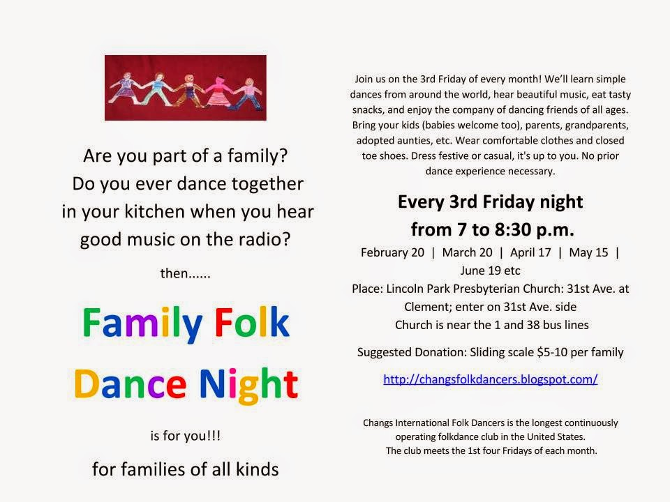 Family Folk Dance Night