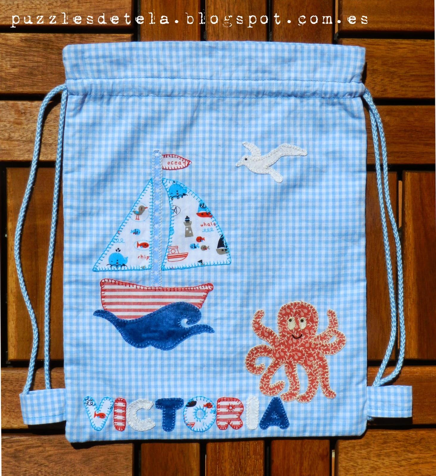 Patchwork, mochila para niños patchwork, mochila patchwork, aplicaciones patchwork, kids, verano, pulpo, bolsa merienda patchwork, bolsa para la merienda,