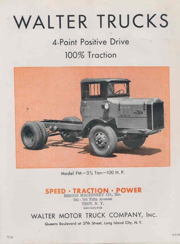 I 39 m liking trucks walter snow fighters and motor trucks for Walter motor truck company