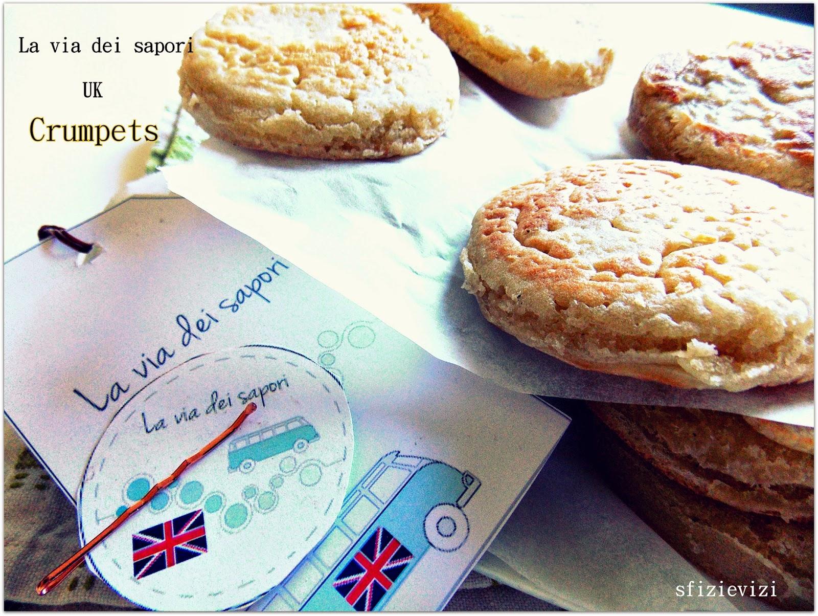 elizabeth david's crumpets - crumpets (senza latticini) per la via dei sapori - inghilterra -