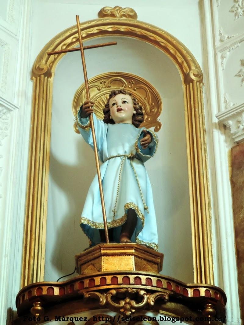 Niño Jesús de la extinguida cofradía Sacramental del Dulce Nombre de Jesús y Ánimas de la Iglesia de Santa Marina. León. Foto G. Márquez