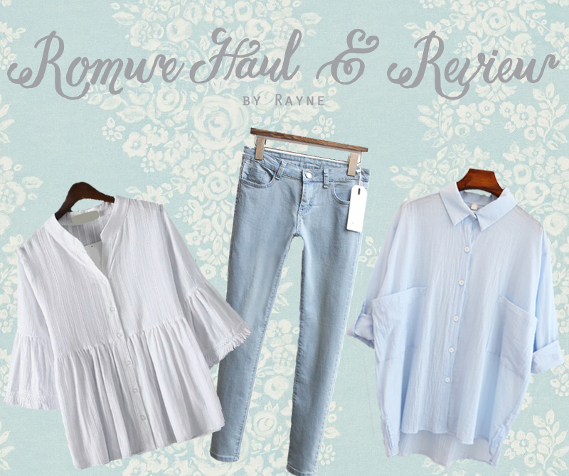 Romwe haul and review