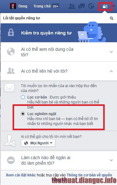 Cách chặn tin nhắn từ người lạ trên Facebook