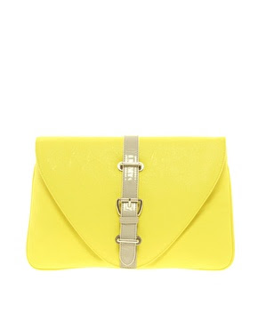 yellow clutch, asos