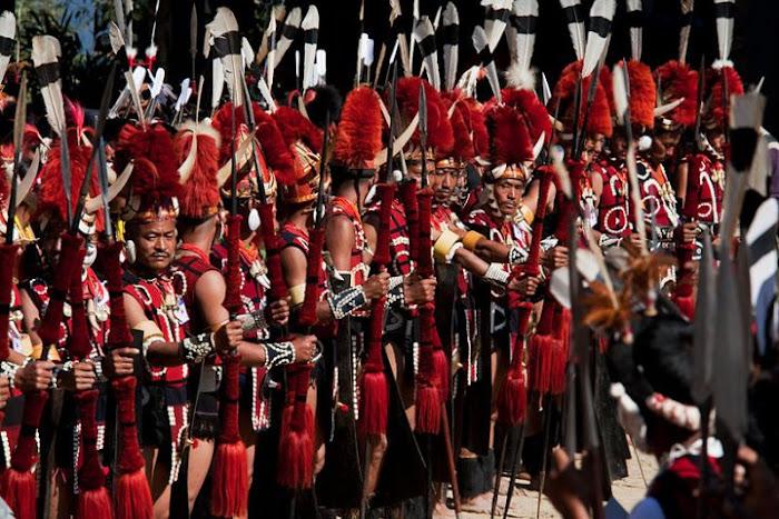 Yimchunger warriors, Nagaland - Johan Gerrits photography