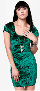 One Rad Girl Green Velvet Dress Wild-Society