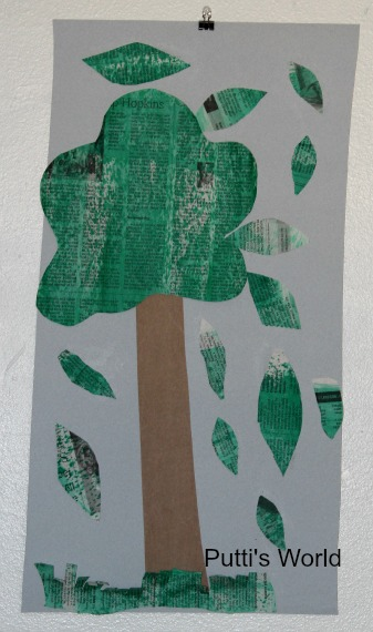 Recycled Tree Kids Craft Earth Day Arbor's Day