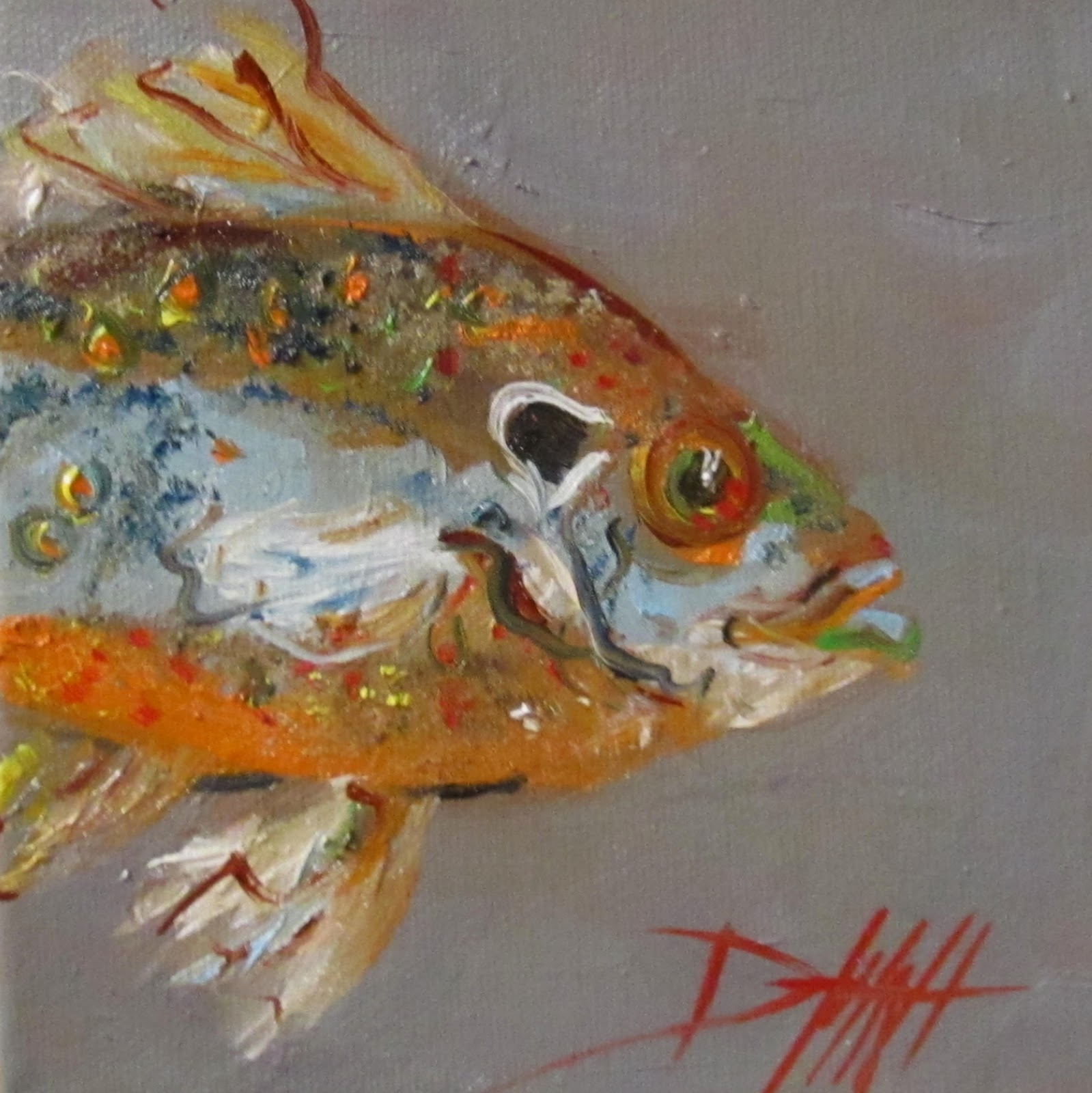 Painting of the day daily oil paintings by delilah sun for Paintings of fish