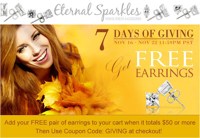 FREE PAIR OF CUBIC ZIRCONIA EARRING
