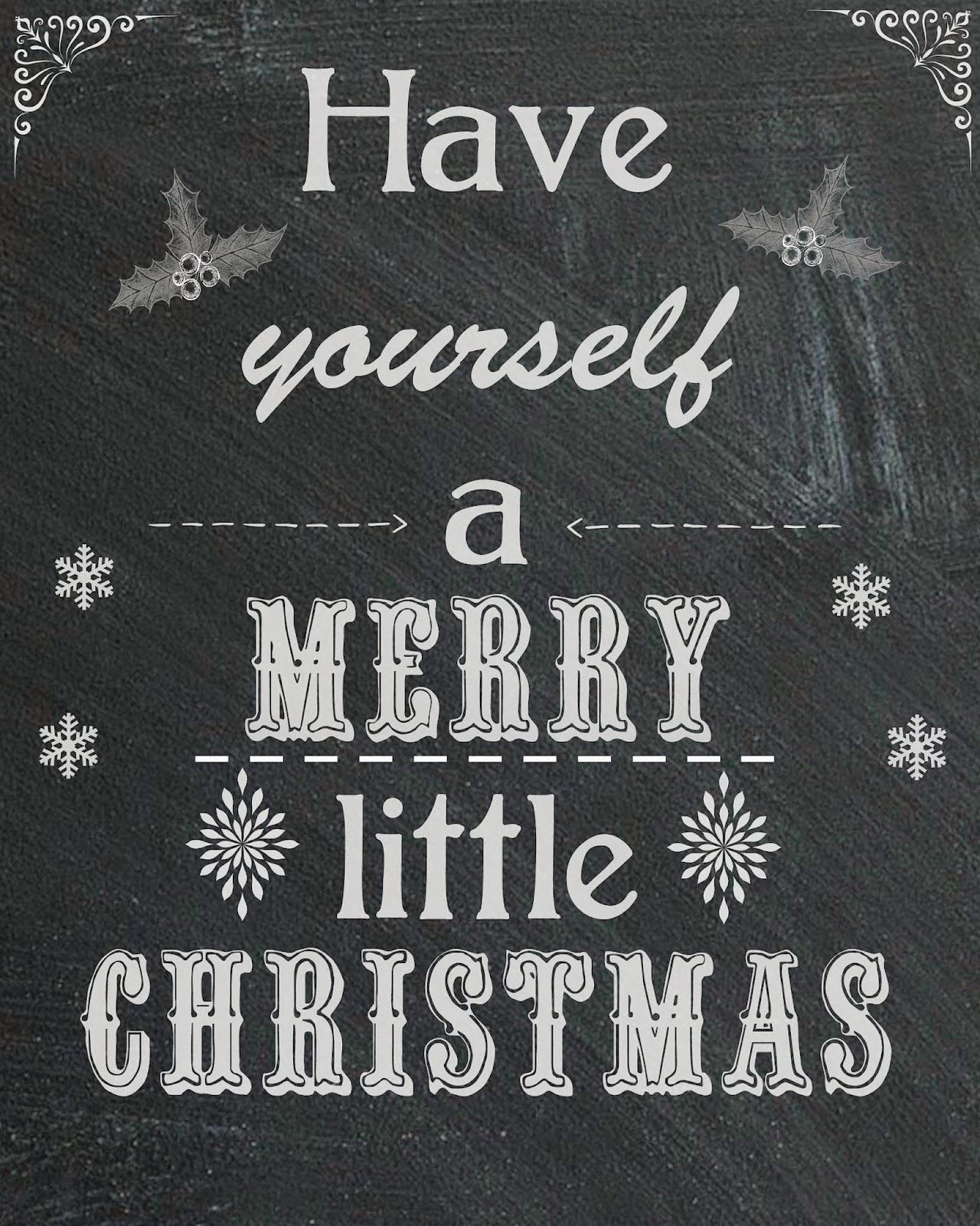 Free Christmas Chalkboard Printable  #TasteTheSeason #ad