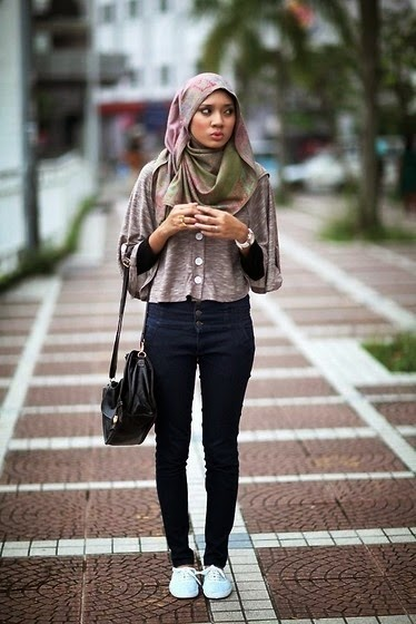 Style Hijab Untuk Cewek Tomboy