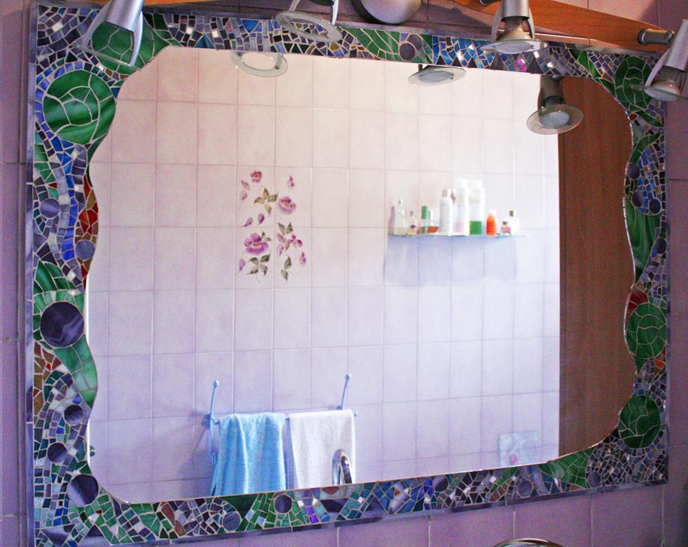 Atelier an gi specchio mosaico di vetro - Mosaico vetro bagno ...