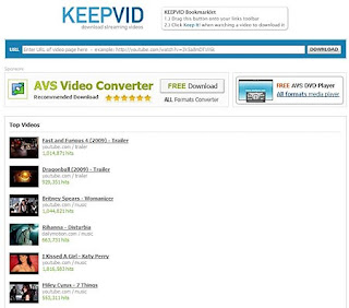 Keepvid website home page pic