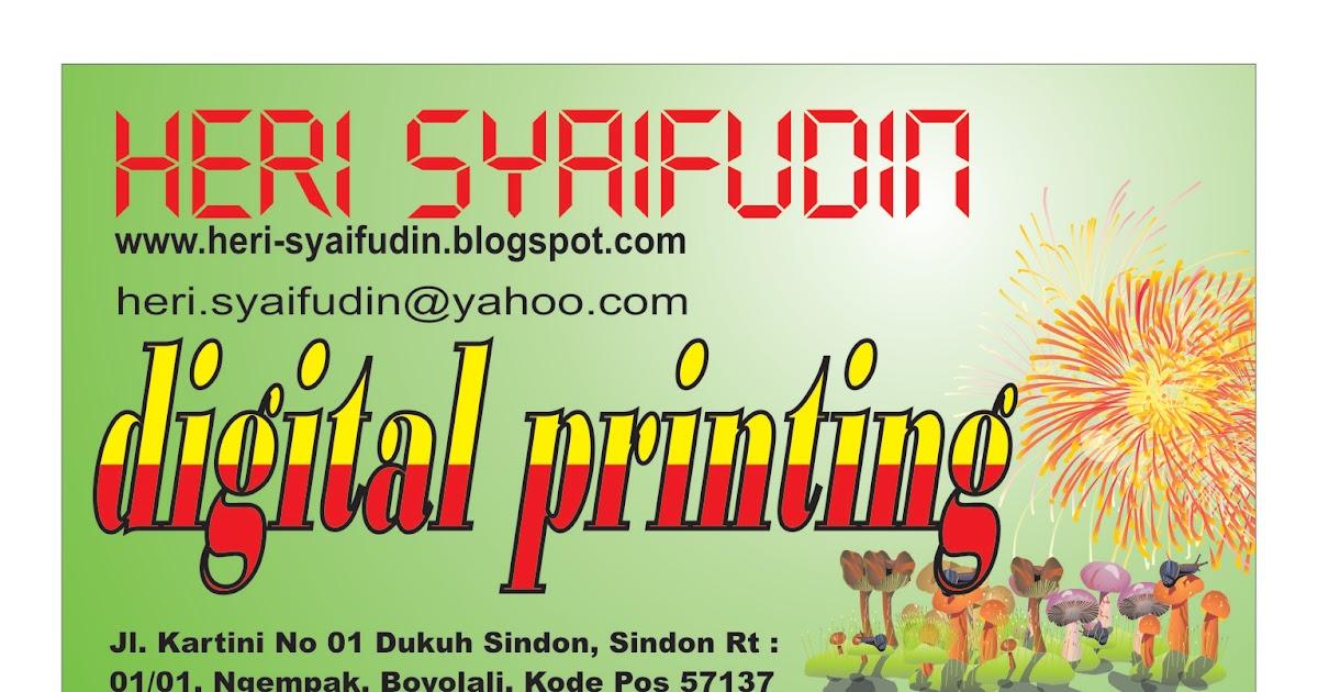 Membuat Desain Kartu Nama Heri Syaifudin Blogg S