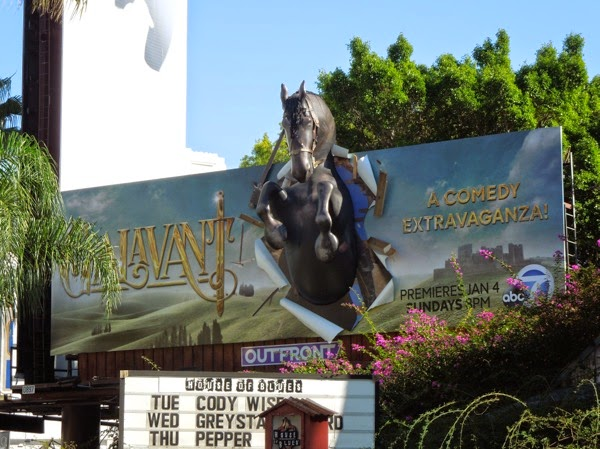 Galavant 3D horse billboard House of Blues