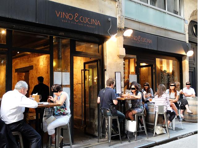 restaurant bar à vins vino e cucina Paris 2eme, rue saint-sauveur nouveau quartier bars restos cool Paris
