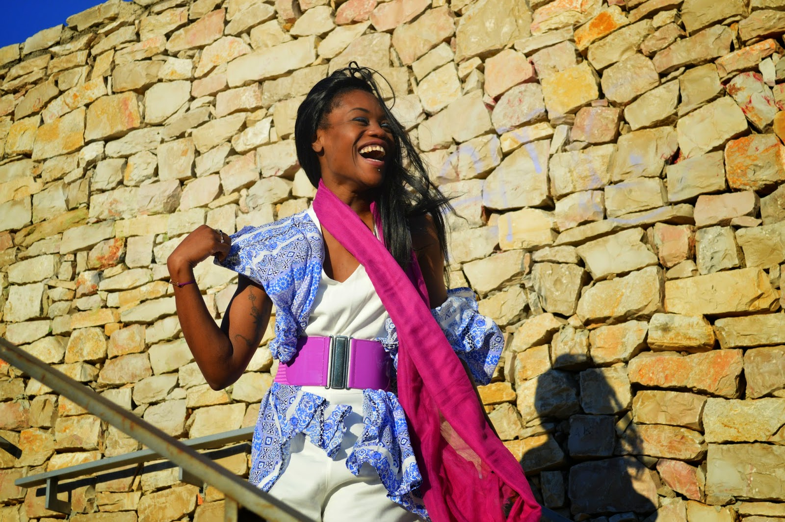 foulard, combinaison blanche, kimono, ceinture
