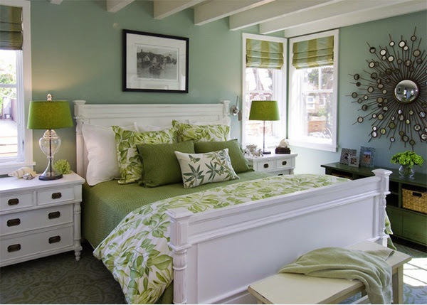 chambre vert lime  idées déco pour maison moderne