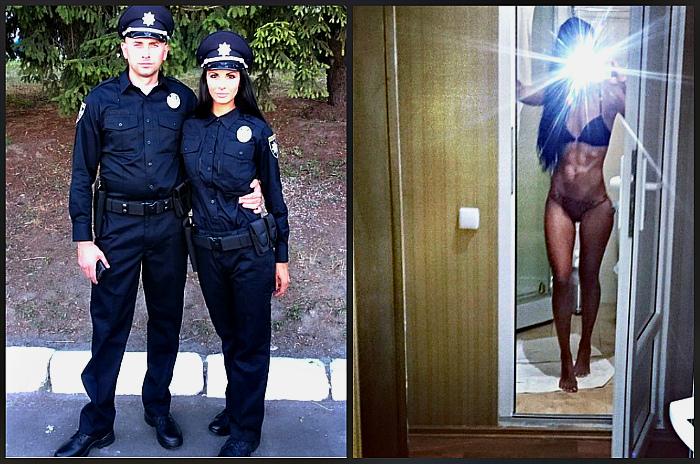 Людмила Милевич - девушка полицейский (15 фото)