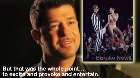 Robin Thicke on Miley Cyrus VMA performance