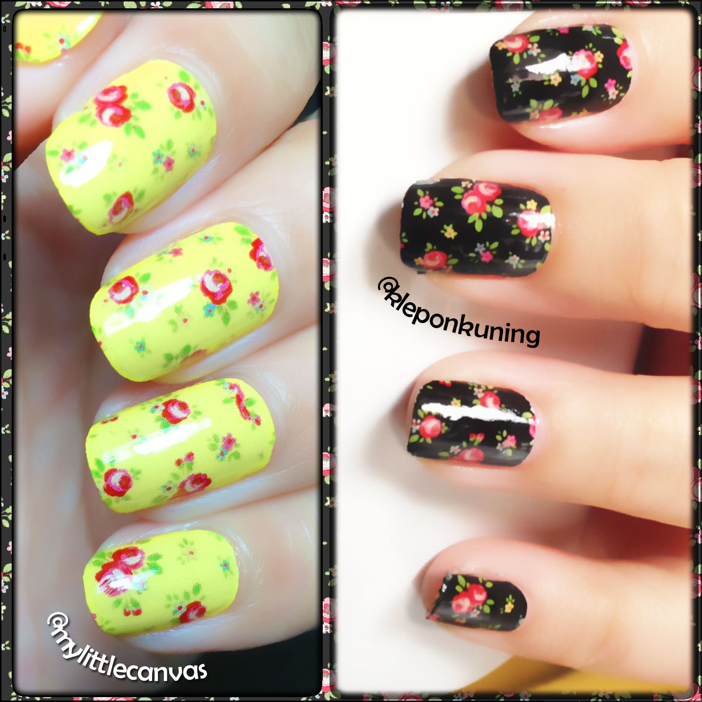Mylittlecanvas vintage floral nail art were crazy about this vintage floral designs so i am going to flood this post with pictures of them prinsesfo Image collections