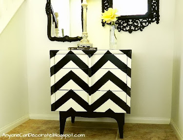 DIY Chevron Painted Dresser