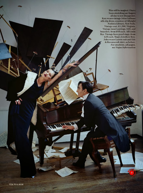 Kate Moss John Galliano Vogue UK December 2013