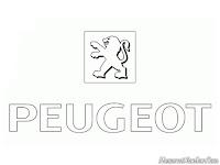 Kids Coloring Peugeot Logo