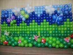 foto de um painel com balões decorado em fortaleza