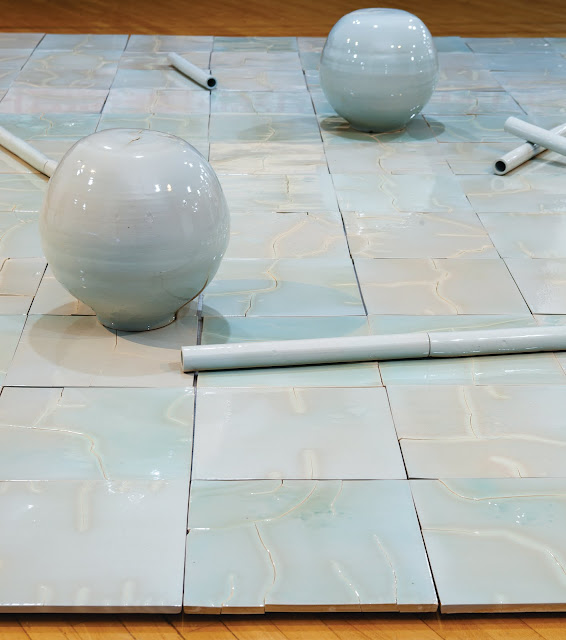 We Call This Work (5 x 5 metres, fired and glazed elements)
