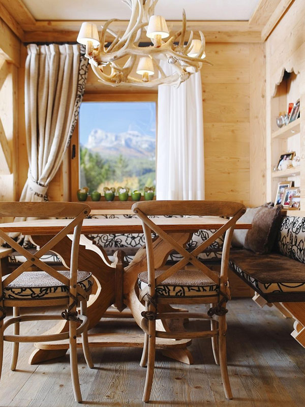 Estilo rustico chalet rustico en cortina d 39 ampezzo - Cortinas estilo rustico ...