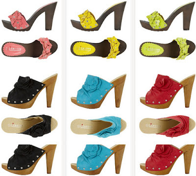 Modelos de Sandalias de colores