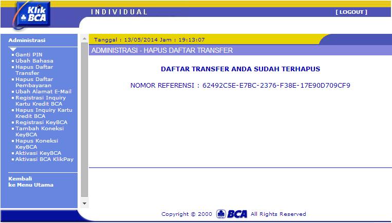 mencegah salah transfer internet banking bca