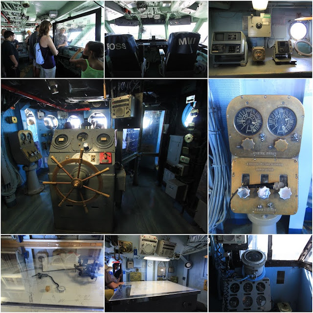 Captain's cabin and Control Tower at the USS Midway Museum in San Diego, California, USA