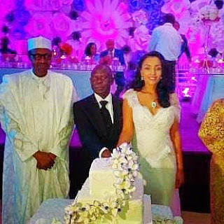 Buhari, Adams Oshiomhole and Lara Fortes