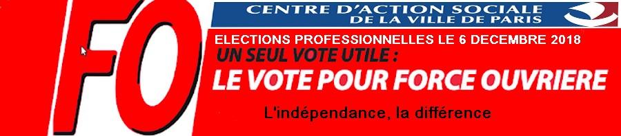 FO CASVP - Le syndicat des Personnels du Centre d'Action sociale de la Ville de Paris